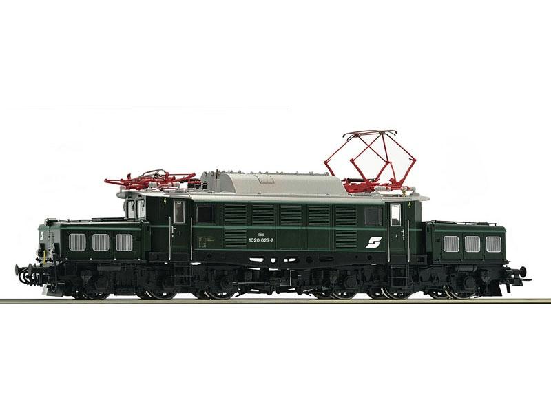 E-Lok 1020 027 grün der ÖBB, DC, Spur H0