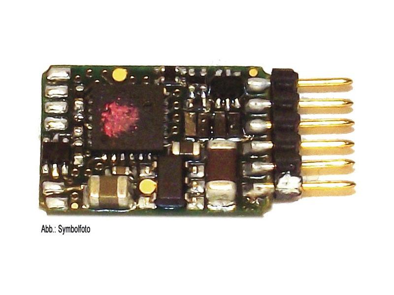 6-poliger Decoder DCC, gerade Stifte (NEM 651)