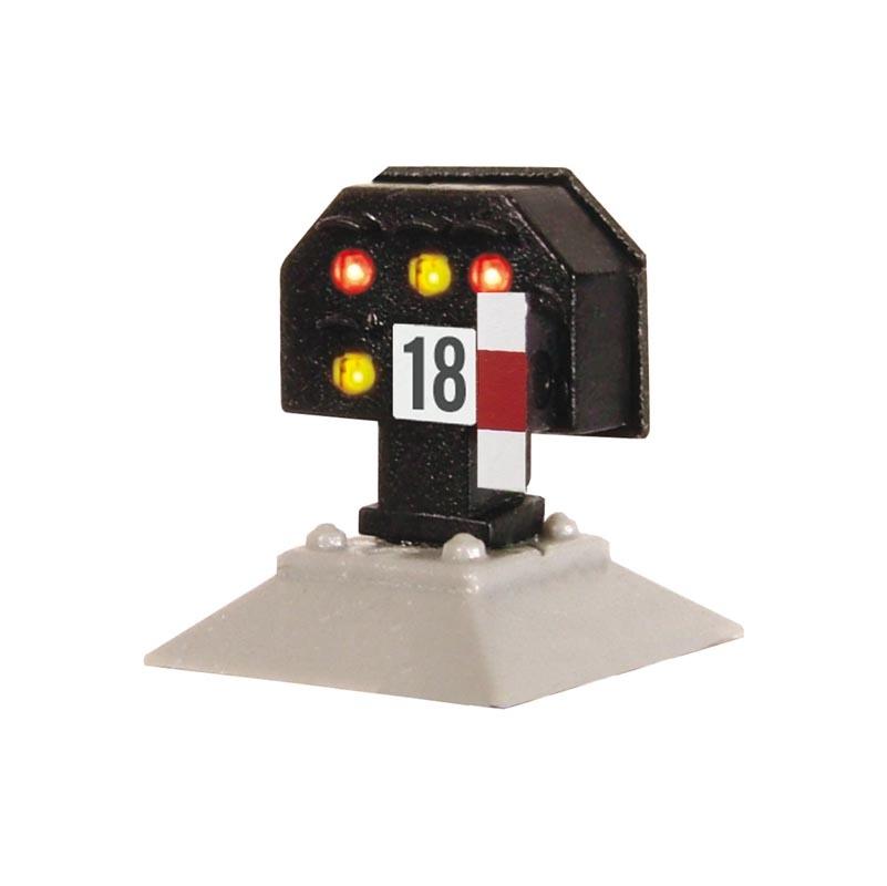 Licht-Sperrsignal, nieder, mit Multiplex-Technologie Spur H0