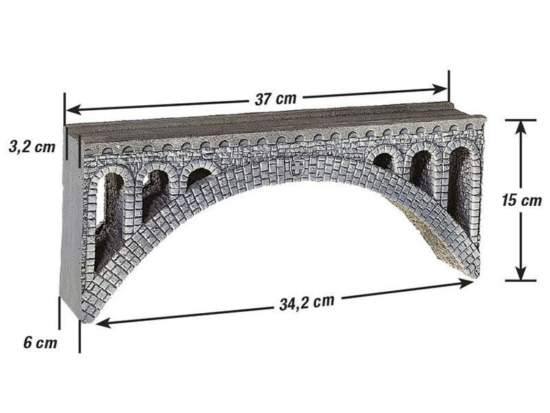 Rhône-Viadukt aus Struktur-Hartschaum Spur H0e, H0m