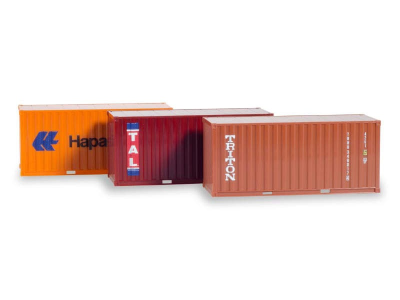 Container-Set 3x20 ft. Hapag Lloyd / TAL / Triton 1:87