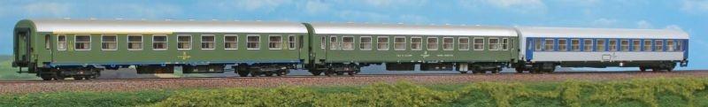 Personenwagen Dalmacija Express JZ, 3-teilig, Set 2, Spur H0