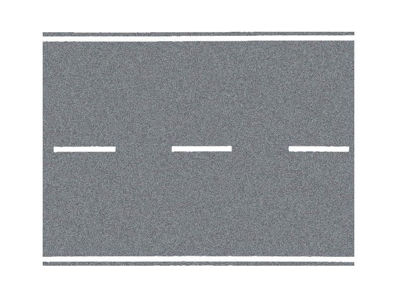 Landstraße, grau, 100 x 6,6 cm Spur H0
