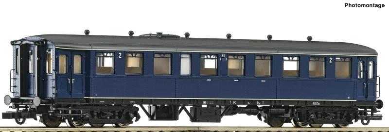 Reisezugwagen blau Mat 24 Blokkendoos der NS, DC, Spur H0