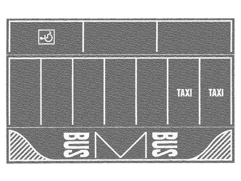 Parkplatz, grau, 22 x 14 cm, 2 Stück Spur H0