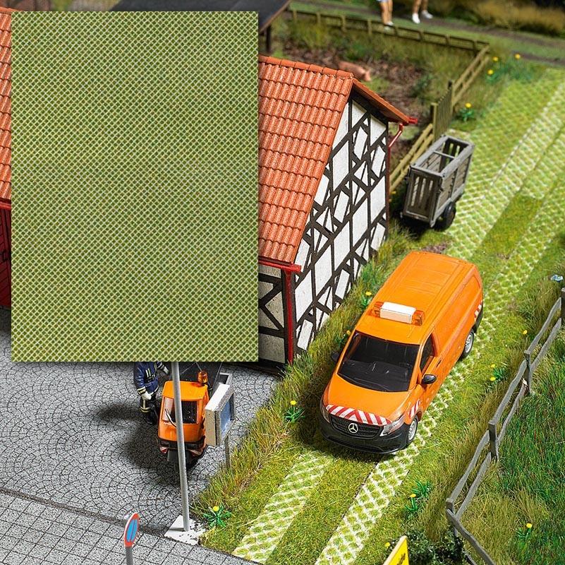 3-D-Dekorplatte »Rasengittersteine«, Spur H0