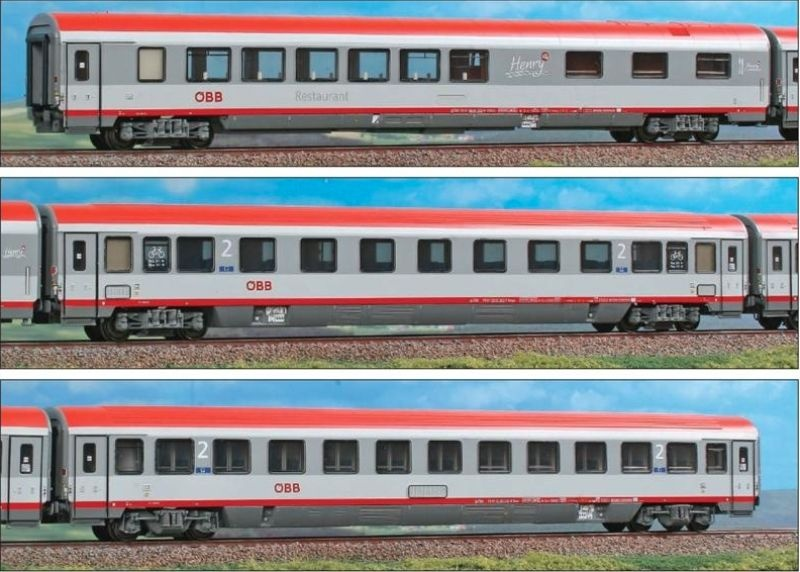 3-teiliges Personenwagenset EC84 München-Bologna, Ep.VI, H0
