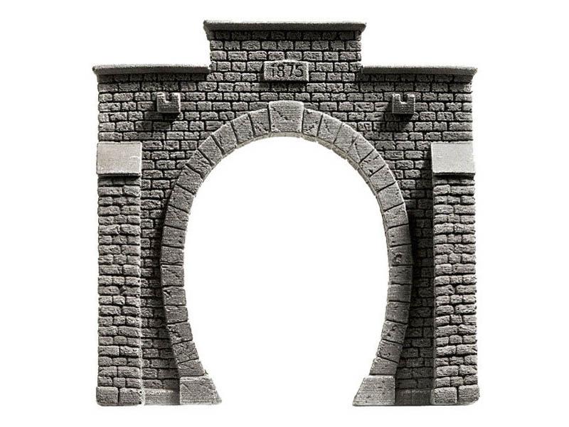 Tunnel-Portal, 1-gleisig, 13,5 x 12 ,5 cm Spur H0