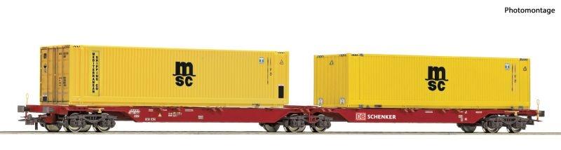 Container-Doppeltragwagen der DB Schenker, DC, Spur H0
