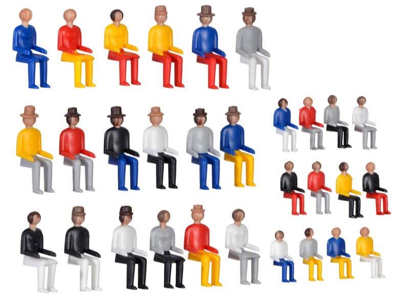 Deko-Set Sitzende Figuren, Bausatz, Spur H0