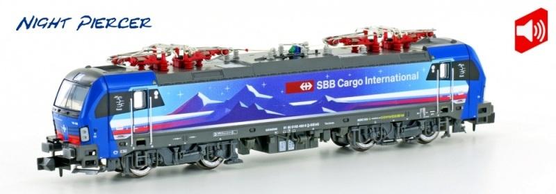 E-Lok BR193 Vectron SBB Cargo Night Piercer, Sound, Spur N