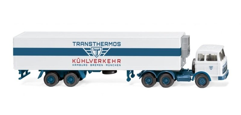 Kühlkoffersattelzug (MB) Transthermos, 1:87 / Spur H0