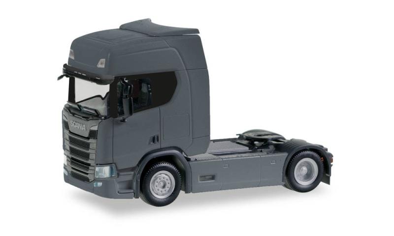 Scania CR HD Zugmaschine, eisengrau, 1:87 / Spur H0