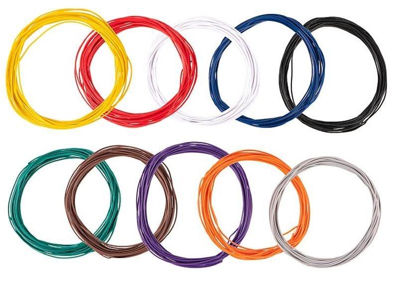 Litzensortiment 0,04 mm², 10 Farben à 10 m