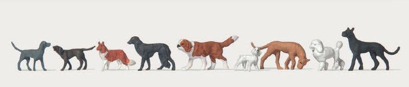 Verschiedene Hunde 1:87 / H0