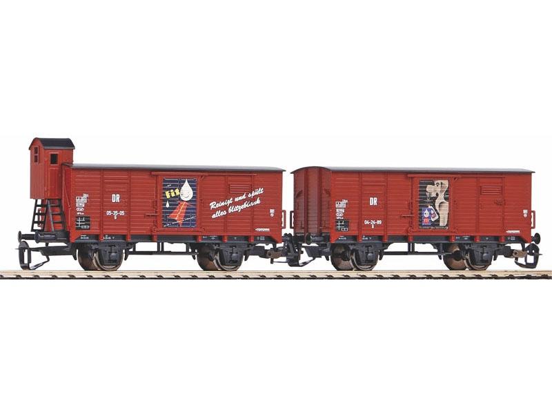2er Set Gedeckter Güterwagen G02 DR III Fit, Spur TT