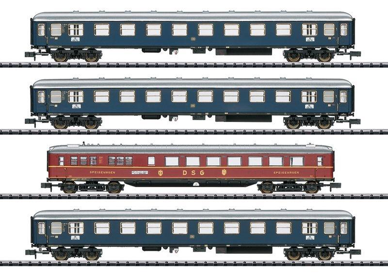 Personenwagen-Set MERKUR der DB, 3-tlg., Ep.III, Spur N