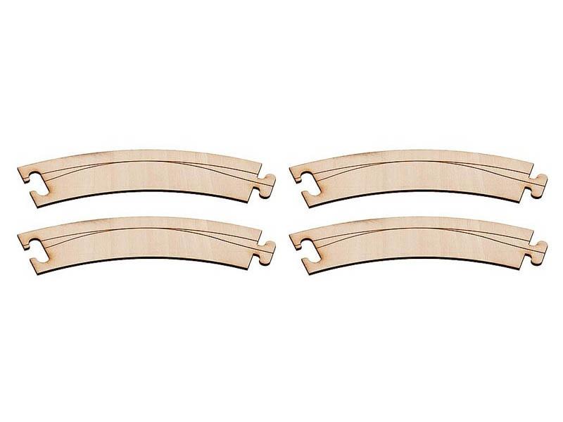 Laser-Street Fahrbahnbogen 45° R = 150 x 30 mm Car System N
