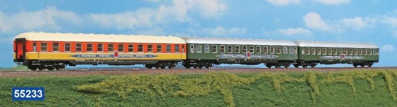 3-tlg Personenwagen-Set Apfelpfeil, Ep. IV, 1:87 / Spur H0