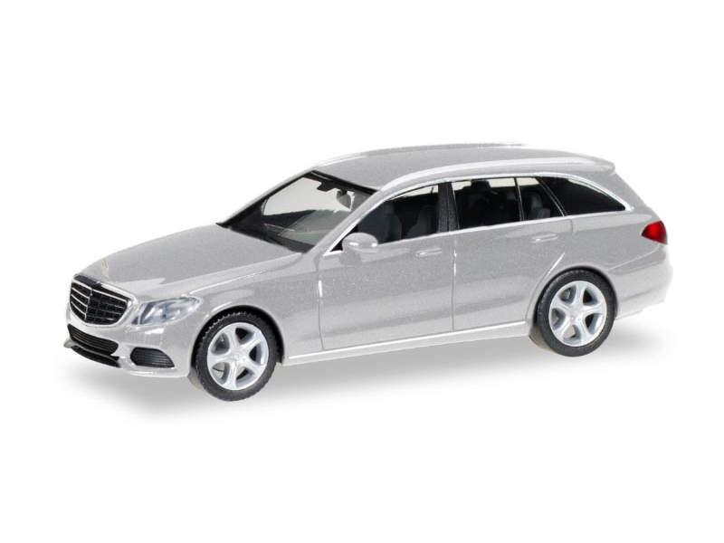 MB C-Klasse T-Modell Elegance, silber metallic, 1:87 / H0