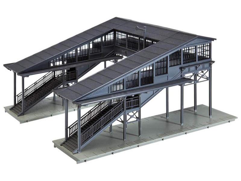 Bahnsteigbrücke Bausatz Hobby-Programm H0