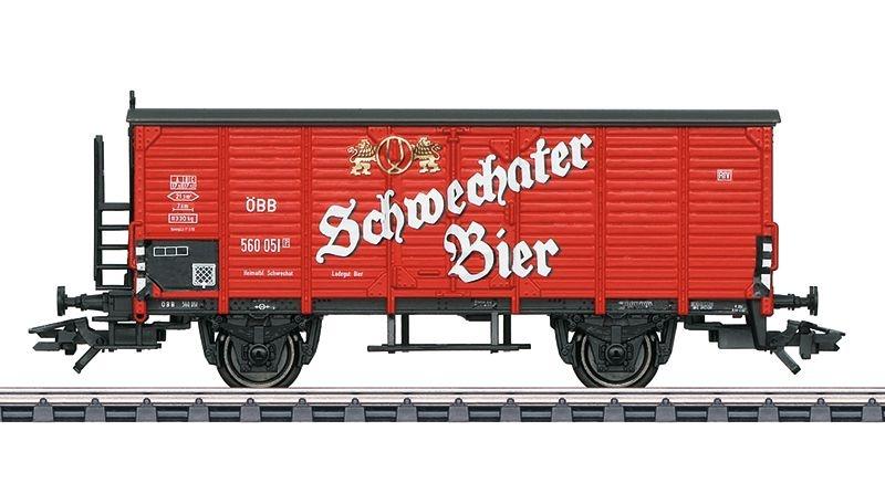 Bierkühlwagen Schwechater Bier der ÖBB, Epoche III,Spur H0