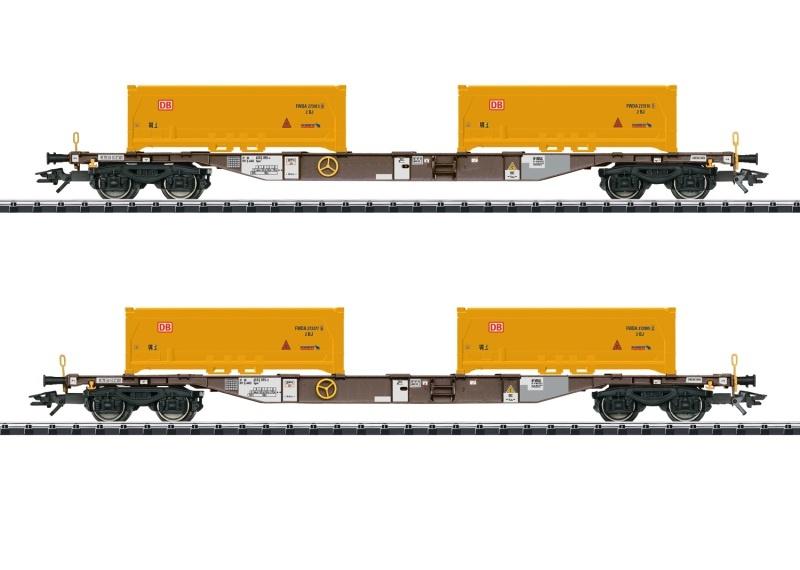 Containertragwagen-Set Erdaushub Stuttgart 21, DC, Spur H0