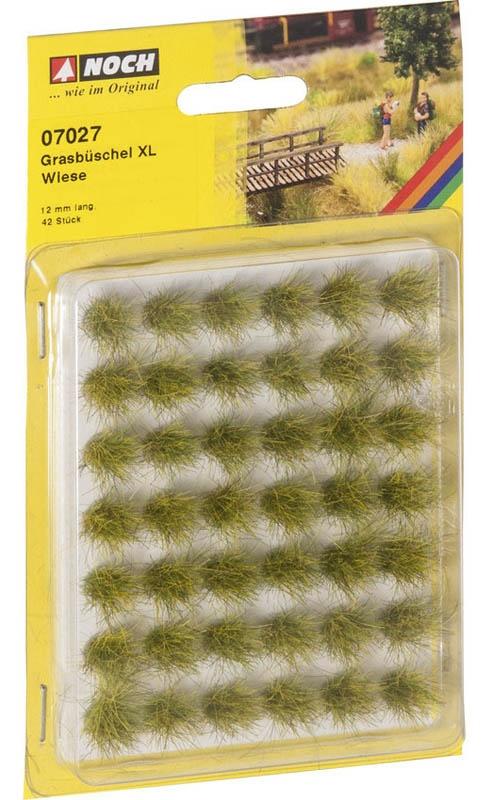 Grasbüschel Mini-Set XL Wiese, gelb, 12 mm, 42 Stück