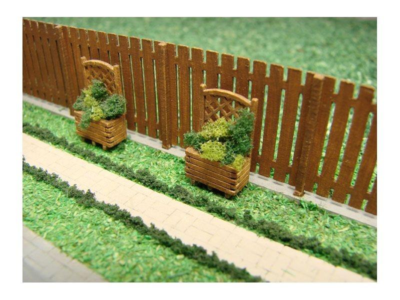 Garten Trennwand I Laser-Cut Bausatz, Spur H0