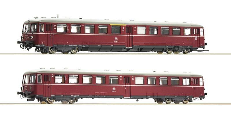 Akkutriebwagen BR 515 mit Steuerwagen der DB, DC, Spur H0