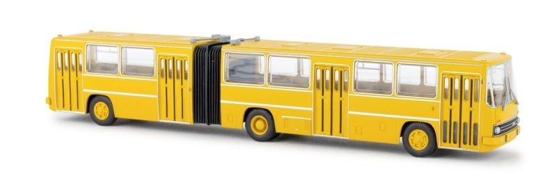 Ikarus 280 Gelenkbus, dunkelgelb, TD, Spur H0