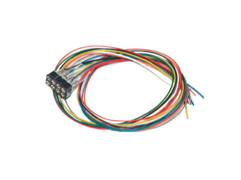 Kabelsatz mit 8-poliger Buchse nach NEM 652, DCC Kabelfarben