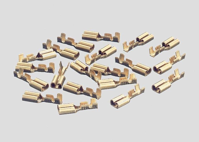 Flachsteckhülsen C-Gleis (20 Stück) H0