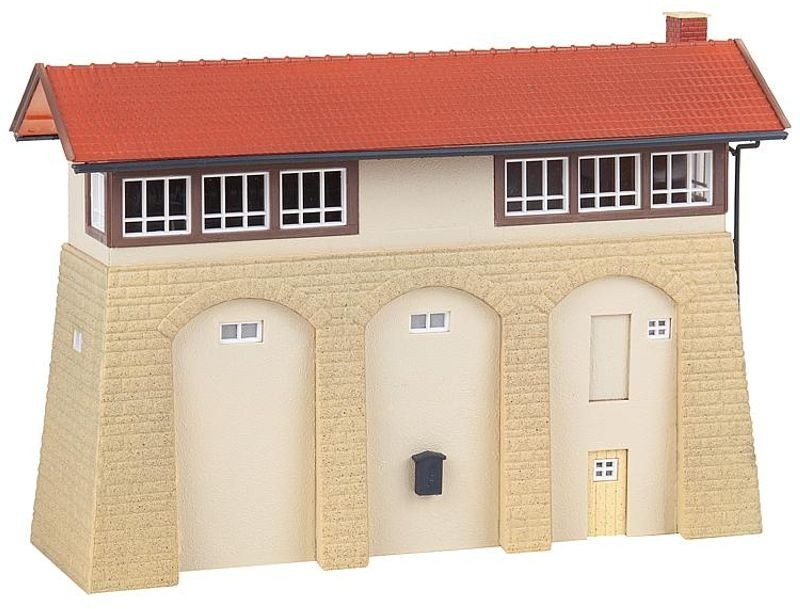 Stellwerk mit Sandsteinsockel, Bausatz, Spur H0