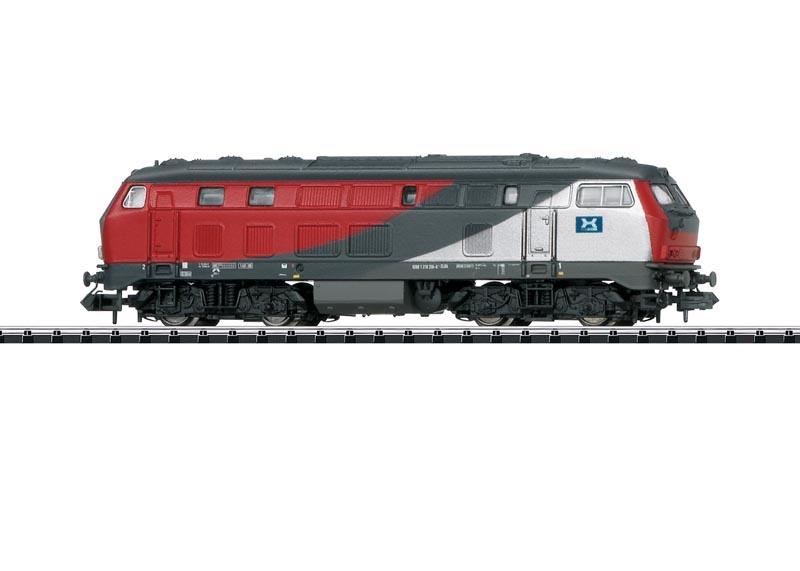 Diesellok BR 218 der ELBA Logistik, Sound, Minitrix Spur N