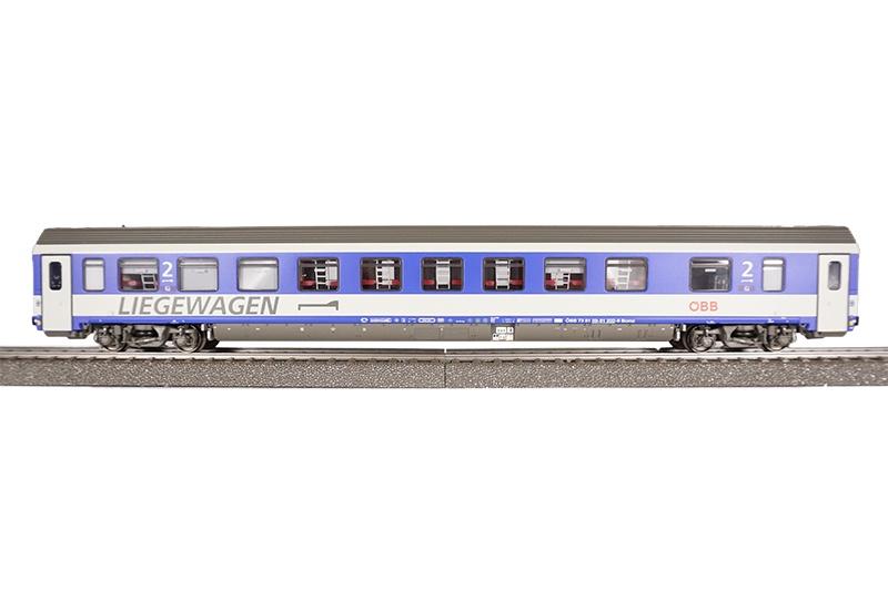 Liegewagen Bcmz 59-91.2 der ÖBB, DC, Spur H0