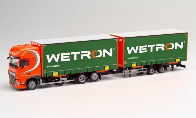 DAF XF EURO 6 SSC Volumen-Hängerzug Wetron, 1:87 / Spur H0