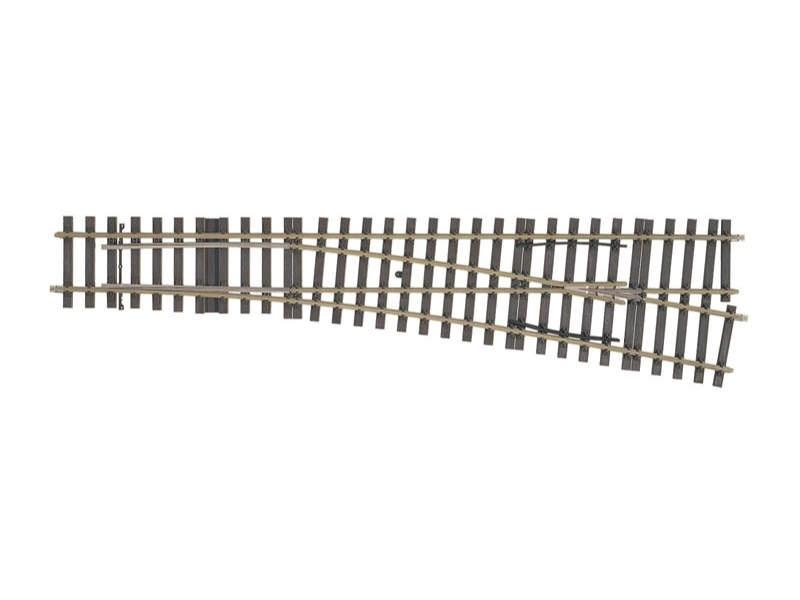 Weichen-Set rechts 10° Radius 2321mm (H1000-1S) Spur 1