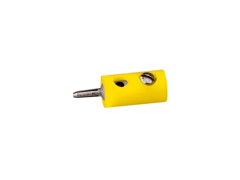 Stecker rund, gelb, 2,5 mm [10 Stück]