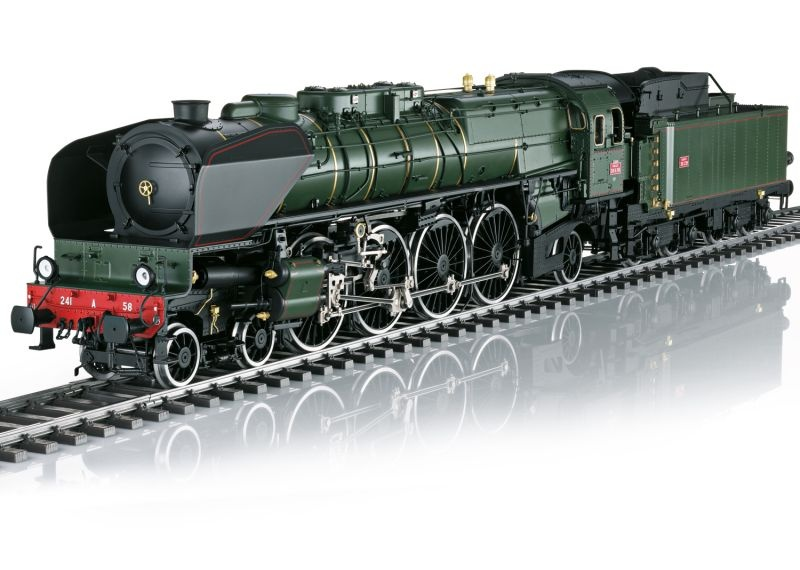 Dampflokomotive Serie 241-A-58 der SNCF, mfx, Rauch, Spur 1