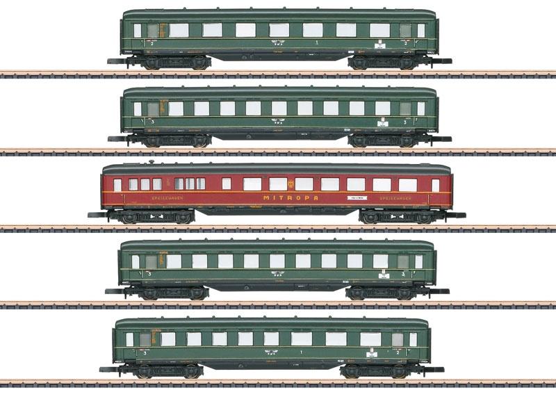 Schnellzug-Schürzenwagen-Set der DRB, Spur Z