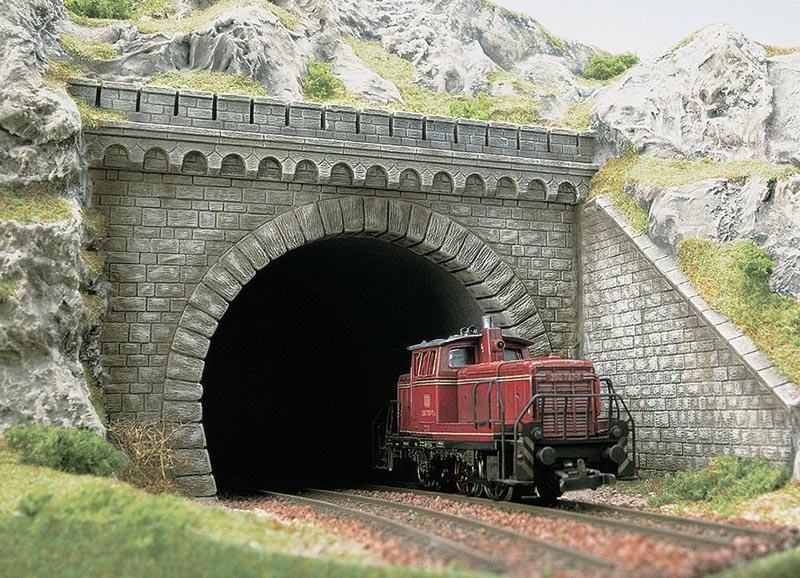Tunnelportal zweigleisig, Spur H0