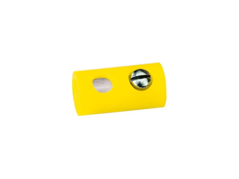 Muffen rund, gelb, 2,5 mm [10 Stück]
