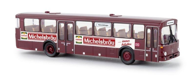 Mercedes O 307, dunkelrot, DB - Milchsbräu, Spur H0