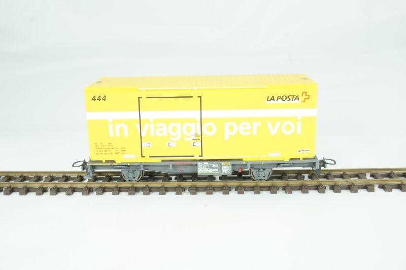 Containerwagen Lb-v 7876 in viaggio per voi, RhB, V, H0m