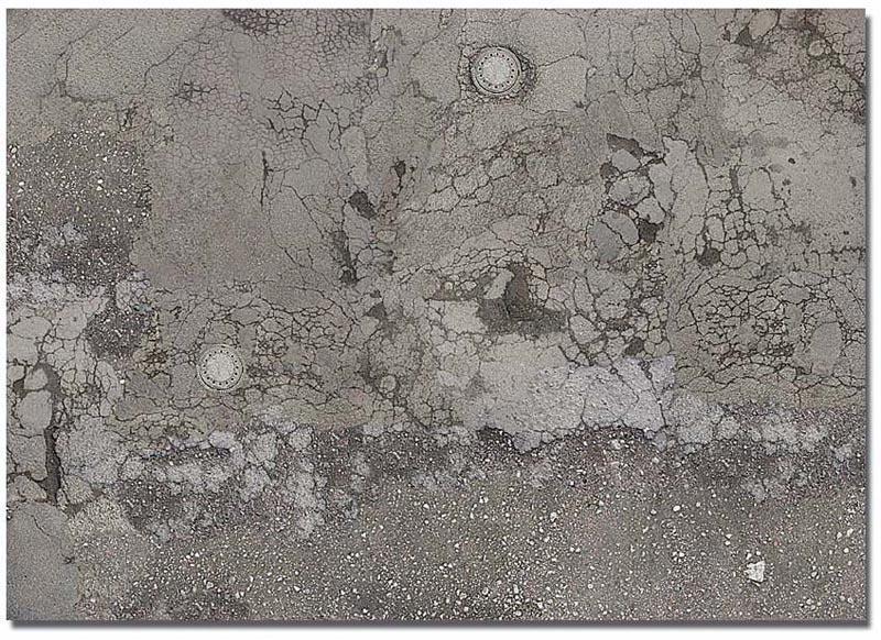 2 Dekoplatten »Verwitterter Asphaltboden«, Spur H0/TT