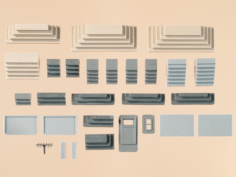 Verschiedene Treppen, 17 Stück, Spur H0 / Spur TT