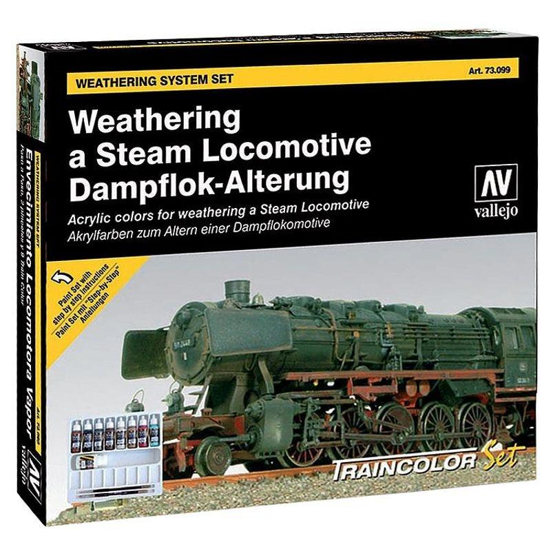 Farb-Set, Alterung einer Dampflokomotive, 9 x 17 ml