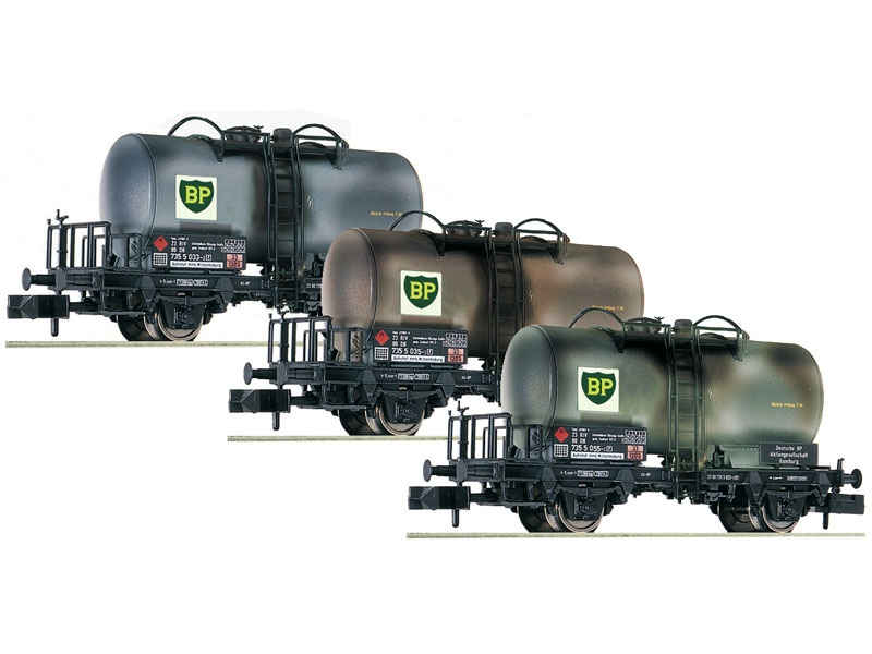 3-tlg. Set: Kesselwagen BP der DB, DC, Spur N