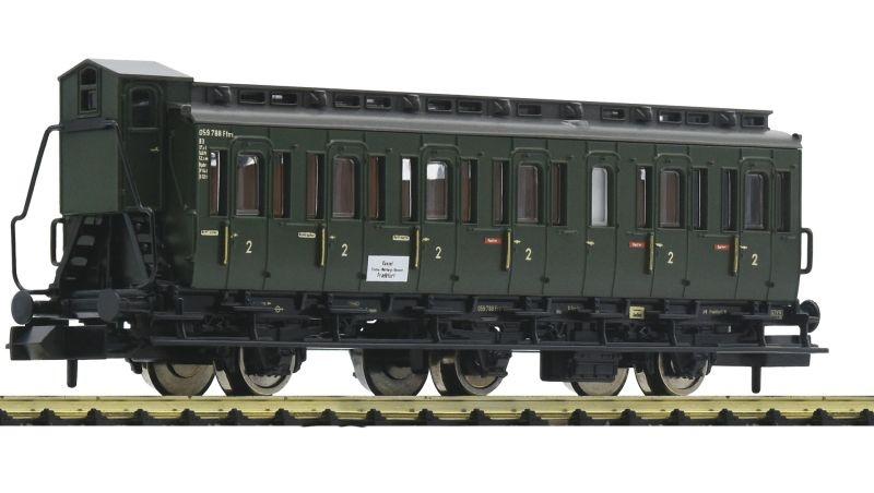 3-achsiger Abteilwagen 2. Klasse C3-pr11 der DB, DC, Spur N